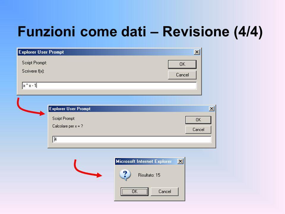 Funzioni come dati – Revisione (4/4)