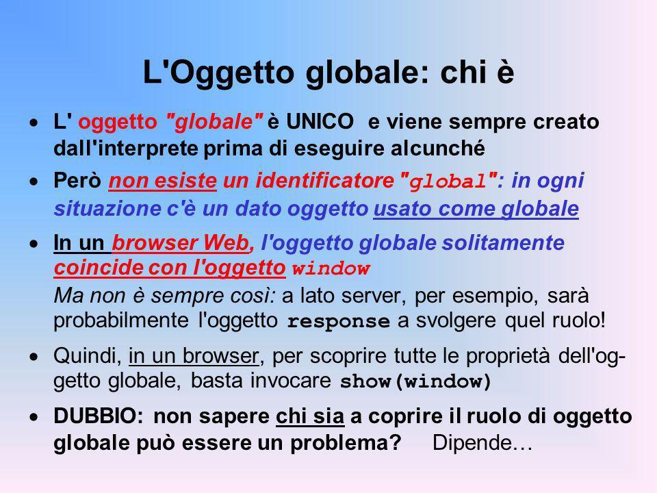 L'Oggetto globale: chi è L' oggetto