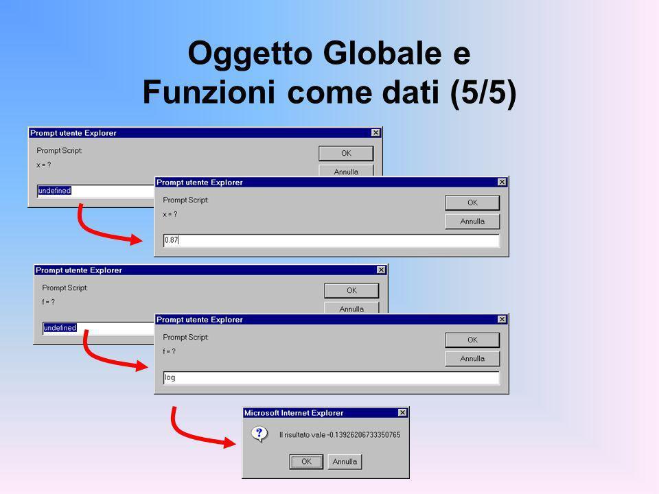 Oggetto Globale e Funzioni come dati (5/5)