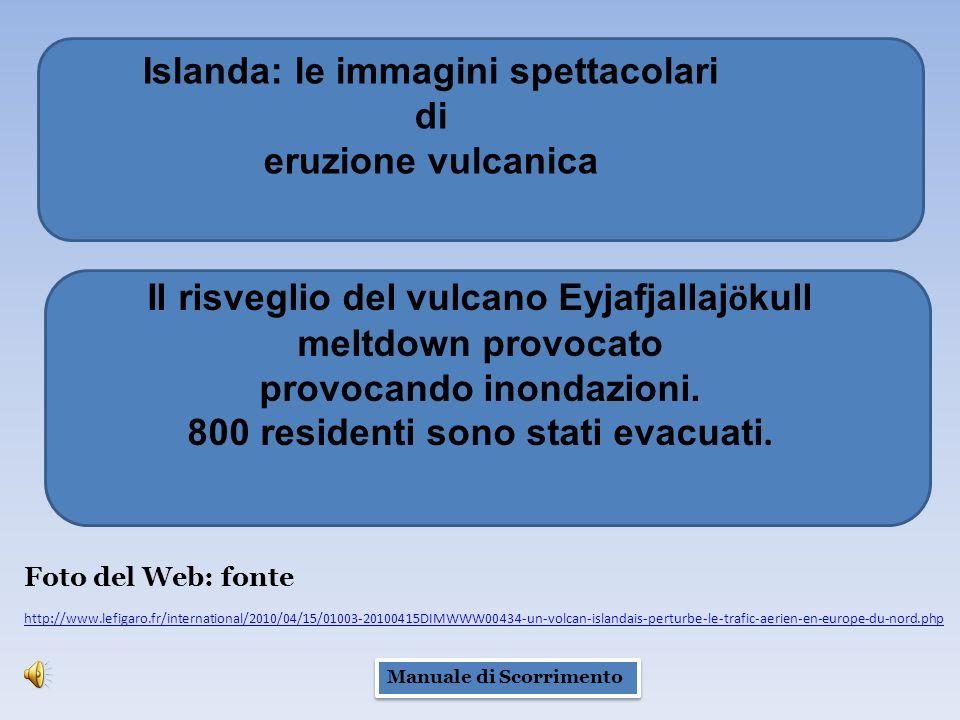 Il risveglio del vulcano Eyjafjallaj ö kull meltdown provocato provocando inondazioni.