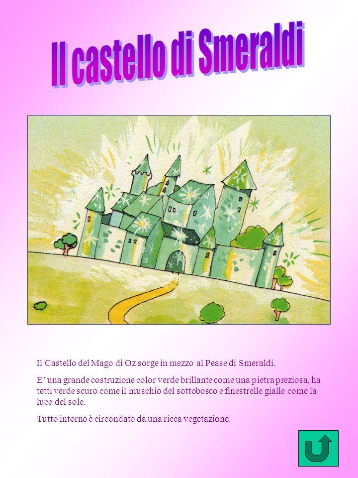 Per raggiungere il castello del Mago di Oz, Dorothy deve attraversare il bosco seguendo sempre la stradina di mattoni gialli. Il bosco inizialmente è