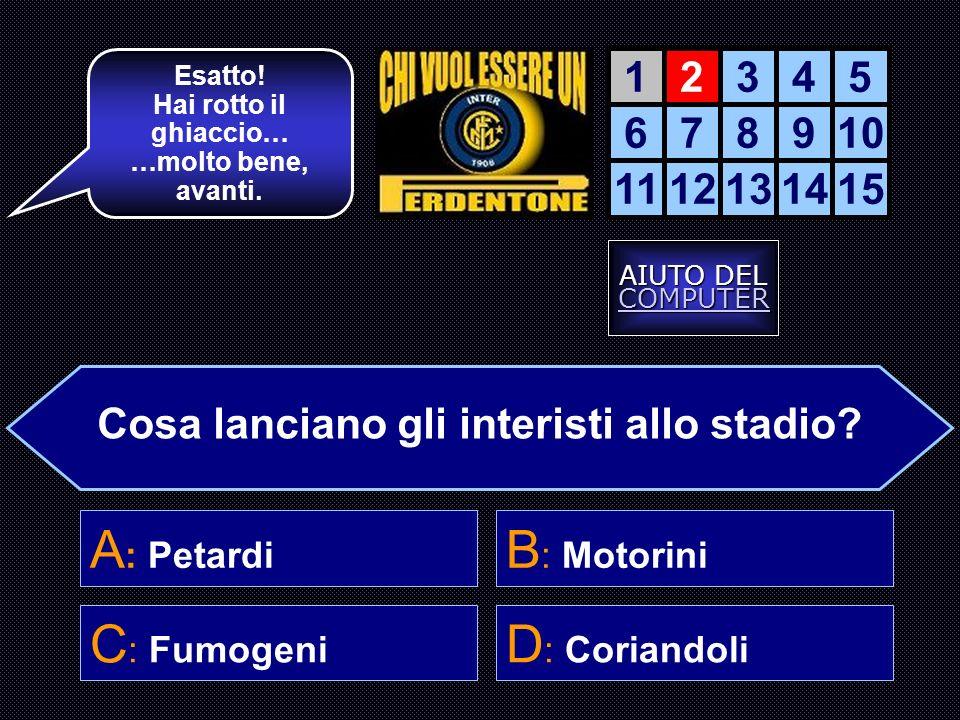 11 Maggio 2001, una data che è entrata di diritto nella storia del calcio. Cosa accadde quel giorno ? A : inter-Milan 0-6 D : Vieri ha imparato a legg