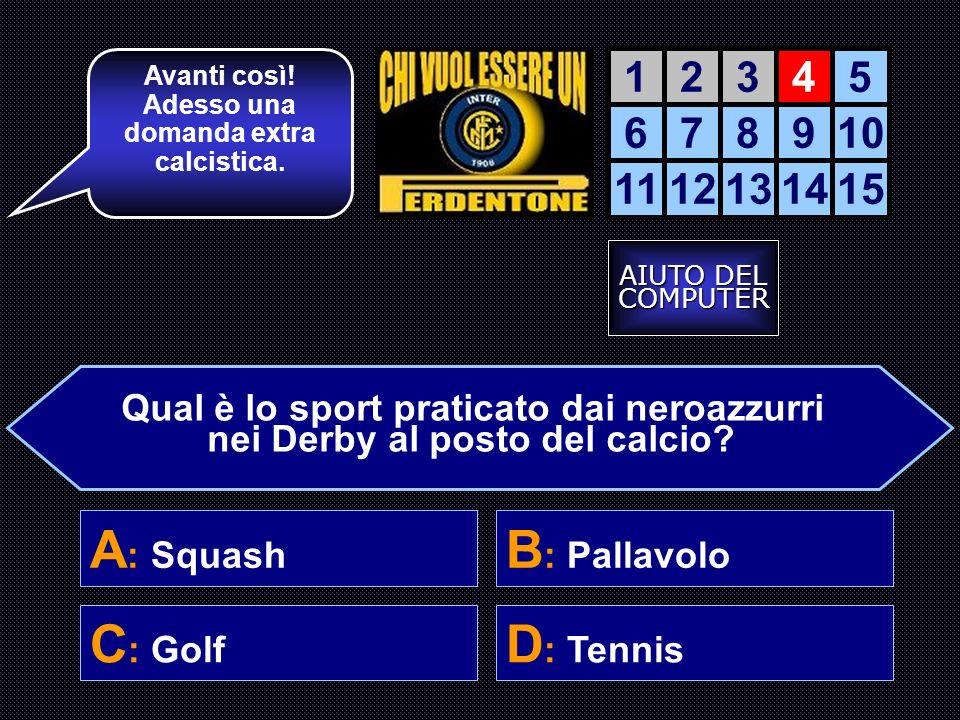 Perché le vittorie dellinter si confondono con quelle della Juve? B: perché vinceva quando la TV era in bianconero C: le finali si disputarono tutte a