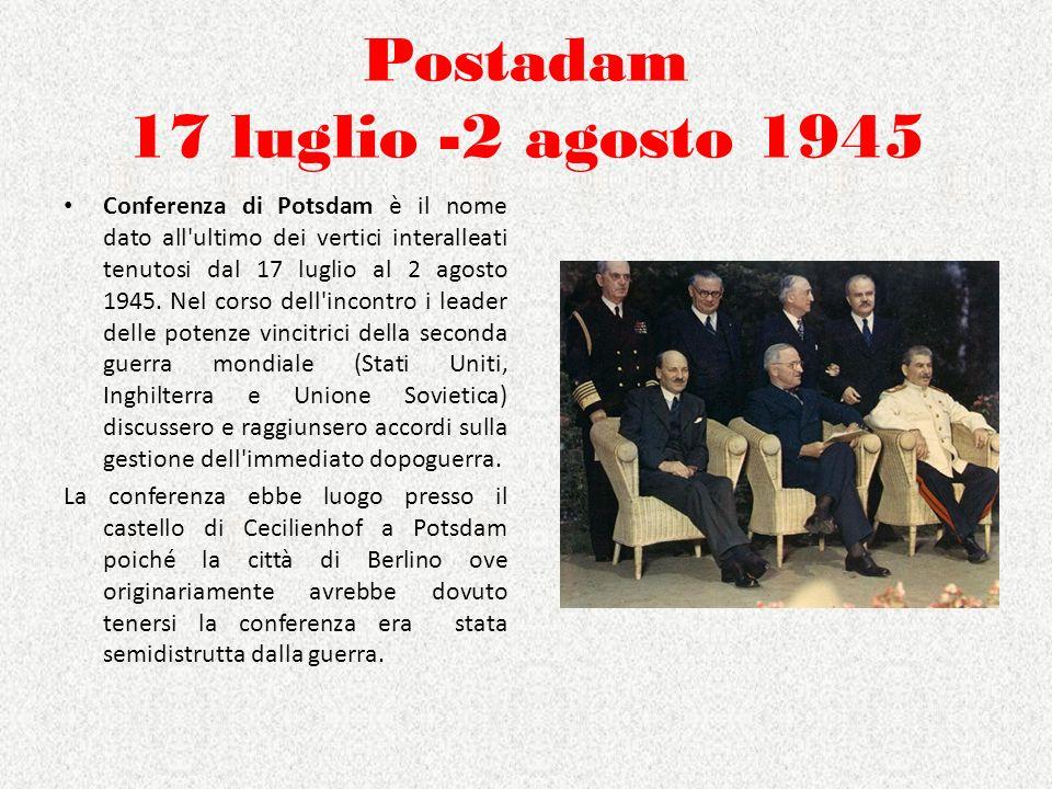 I patti militari dellest Il Patto di Varsavia fu stipulato tra URSS e i paesi dellEst nel maggio 1955.