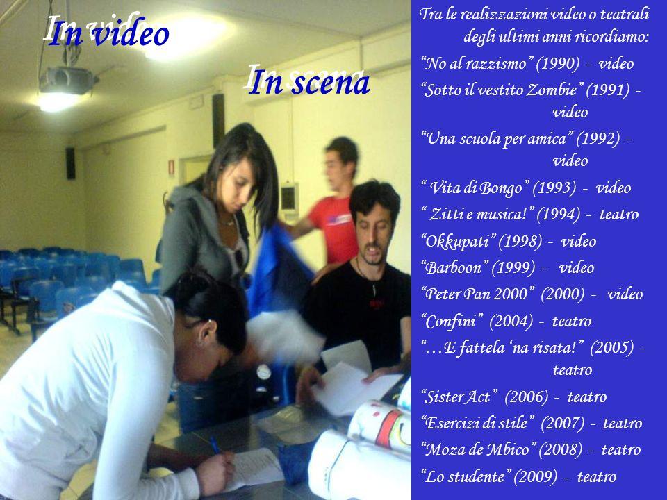In video In scena Tra le realizzazioni video o teatrali degli ultimi anni ricordiamo: No al razzismo (1990) - video Sotto il vestito Zombie (1991) - video Una scuola per amica (1992) - video Vita di Bongo (1993) - video Zitti e musica.