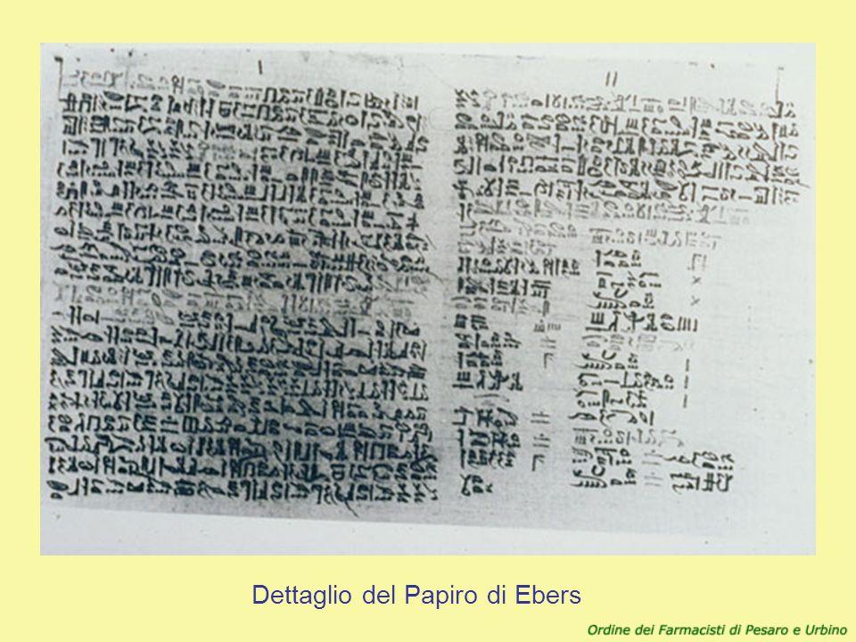 Dettaglio del Papiro di Ebers