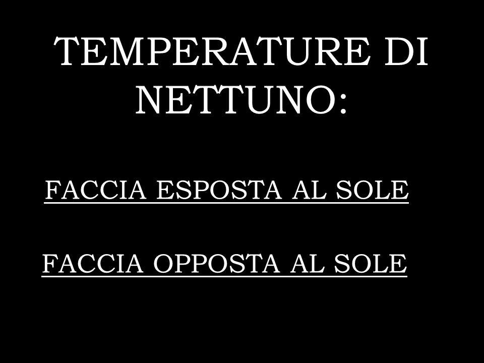 TEMPERATURE DI NETTUNO: FACCIA ESPOSTA AL SOLE FACCIA OPPOSTA AL SOLE