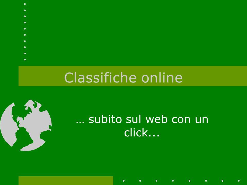 Classifiche online … subito sul web con un click...