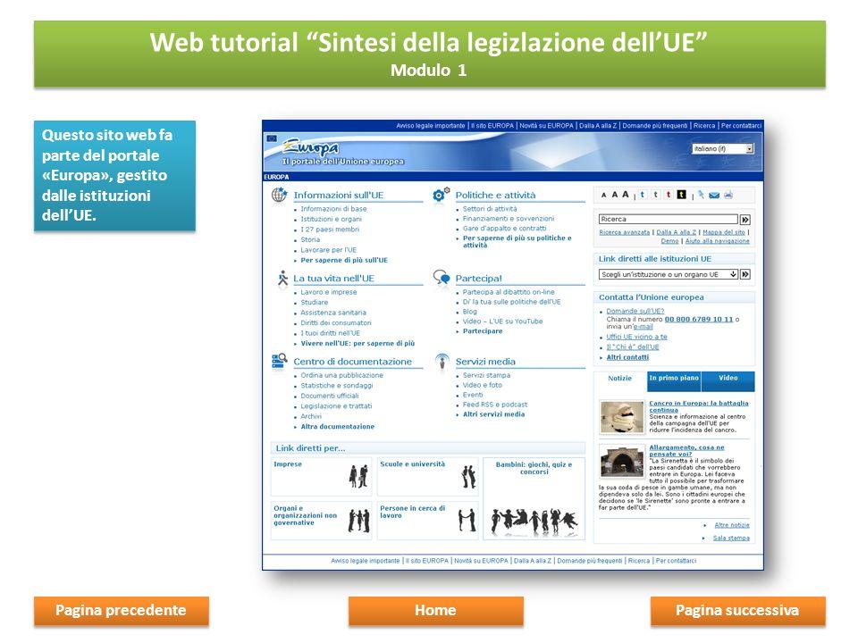 Questo sito web fa parte del portale «Europa», gestito dalle istituzioni dellUE.