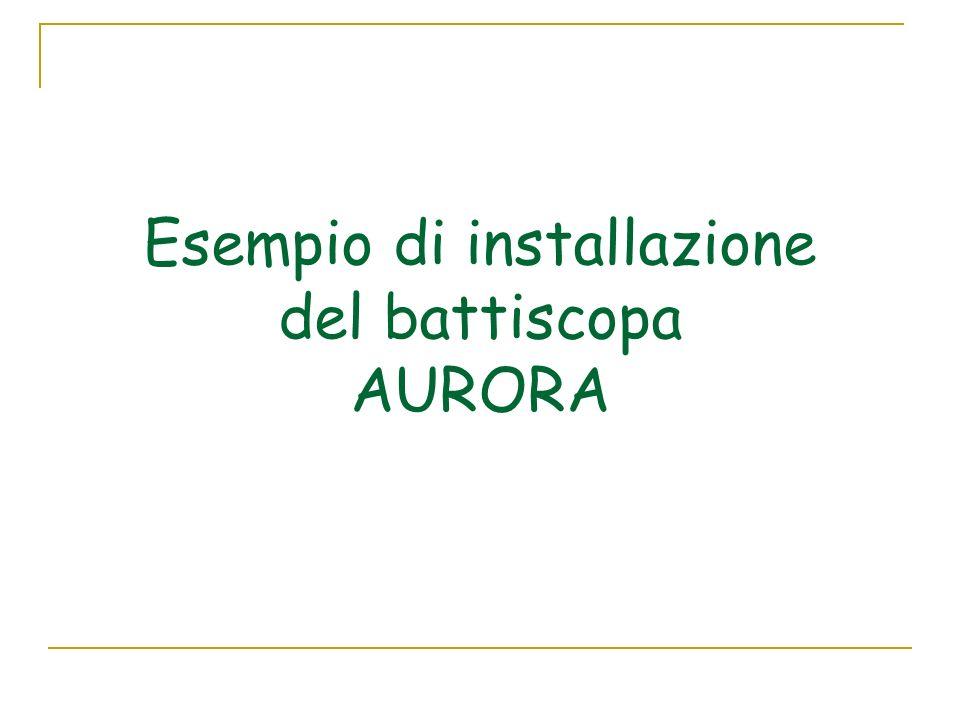 Esempio di installazione del battiscopa AURORA