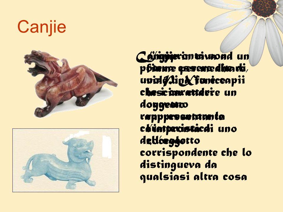 Canjie Cangjie in riva ad un fiume per meditare, vide una fenice lasciar cadere un oggetto rappresentante limpronta di uno zoccolo. Limpronta non pote