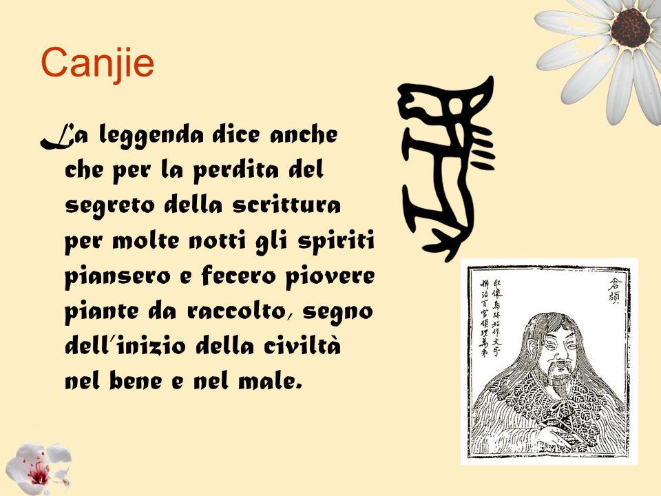 La leggenda dice anche che per la perdita del segreto della scrittura per molte notti gli spiriti piansero e fecero piovere piante da raccolto, segno