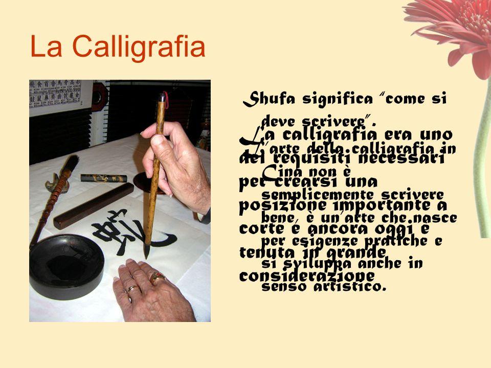 La Calligrafia Shufa significa come si deve scrivere. Larte della calligrafia in Cina non è semplicemente scrivere bene, è unarte che nasce per esigen