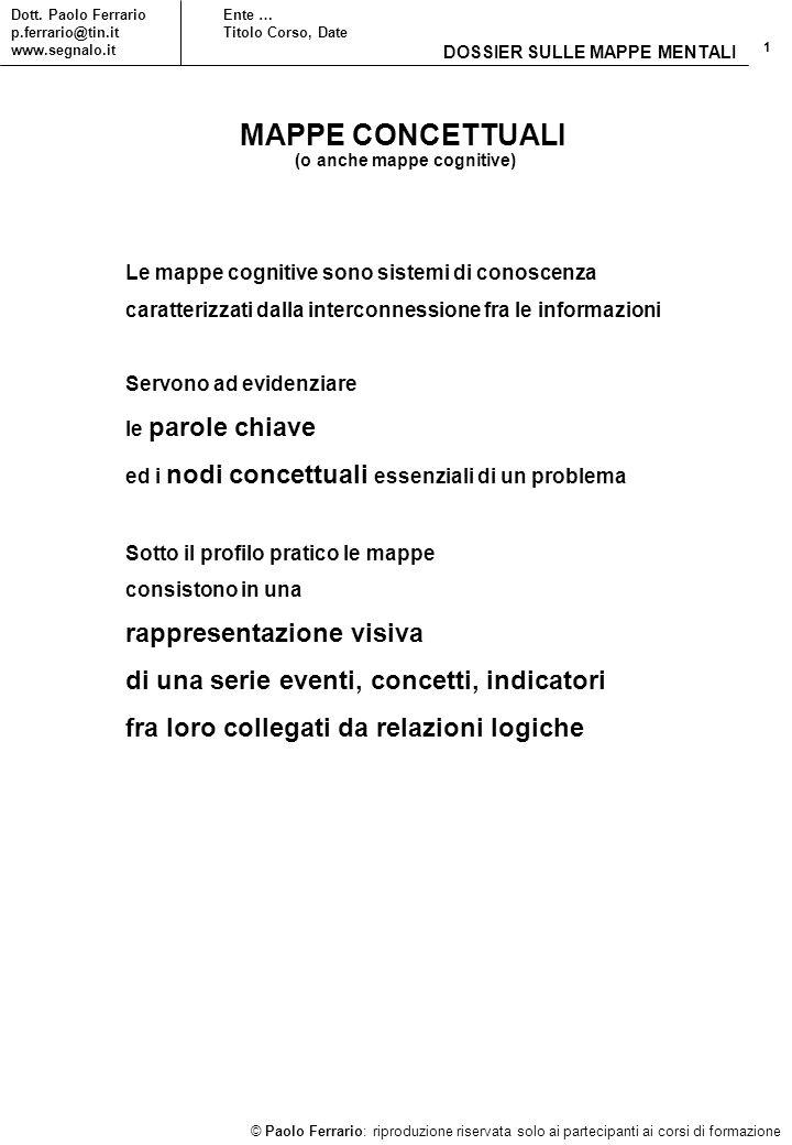 1 © Paolo Ferrario: riproduzione riservata solo ai partecipanti ai corsi di formazione Dott.