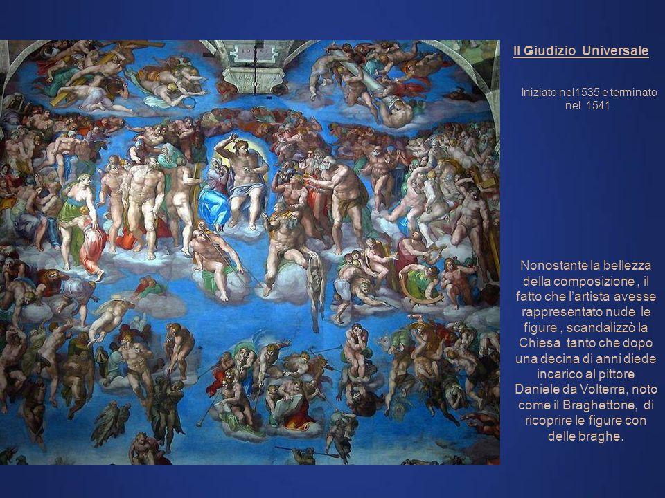 Vista generaleVolta: Michelangelo Fronte: Giudizio Universale - Michelangelo Affreschi laterali: A causa della magnificenza di questa opera ci limiter
