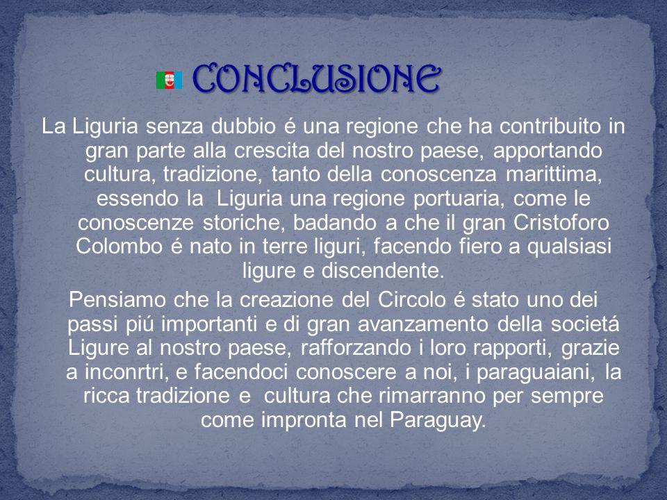 La Liguria senza dubbio é una regione che ha contribuito in gran parte alla crescita del nostro paese, apportando cultura, tradizione, tanto della con