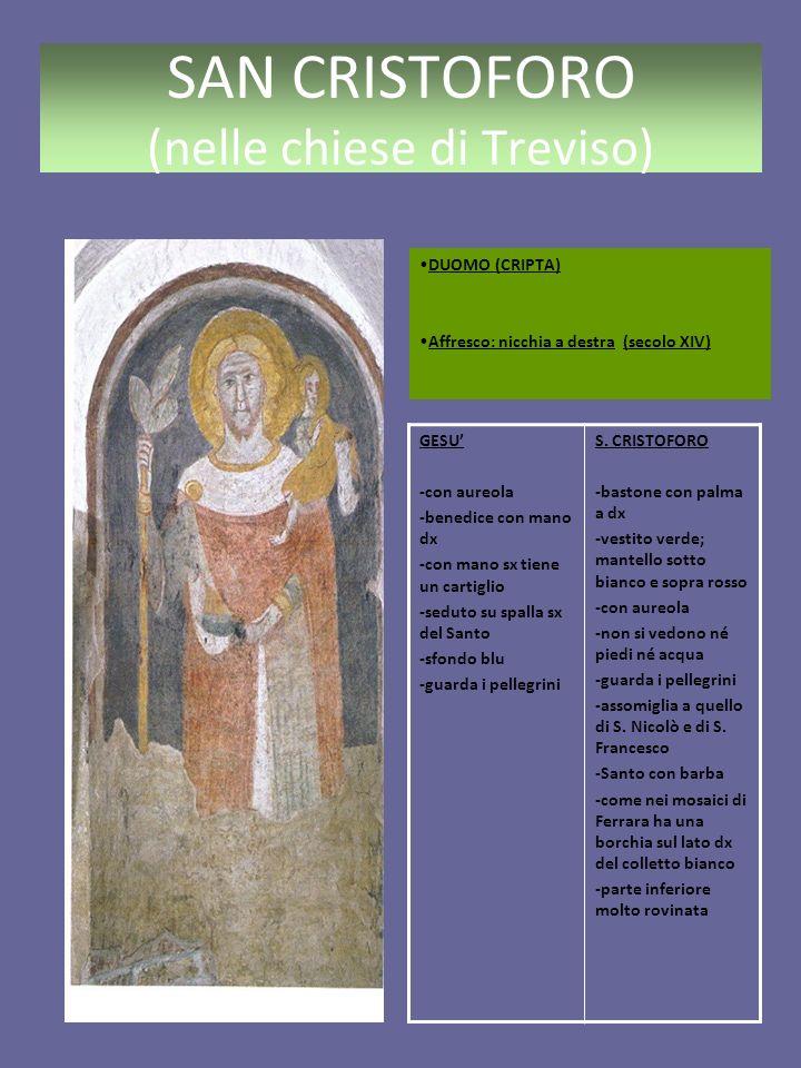 SAN CRISTOFORO (nelle chiese di Treviso) SANTO STEFANO la sede parrocchiale, conservando il titolo, è stata, per ragioni di capienza e di centralità, trasferita verso il 1938 in S.
