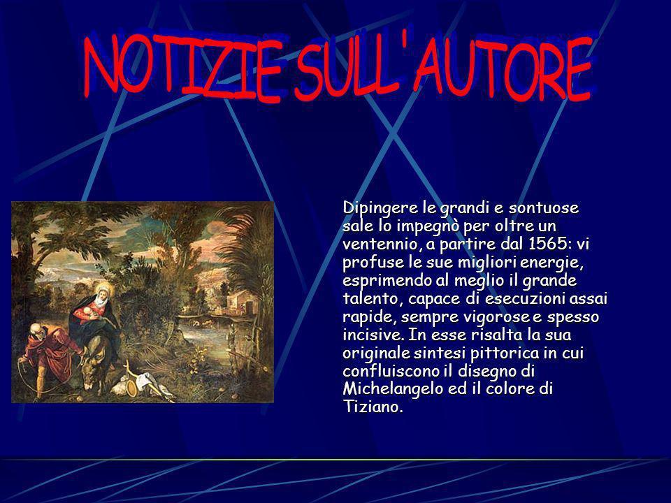 A decorazione della Scuola Grande di san Rocco di Venezia, sede prestigiosa di unimportante Confraternita veneziana che offriva ai suoi membri diverse