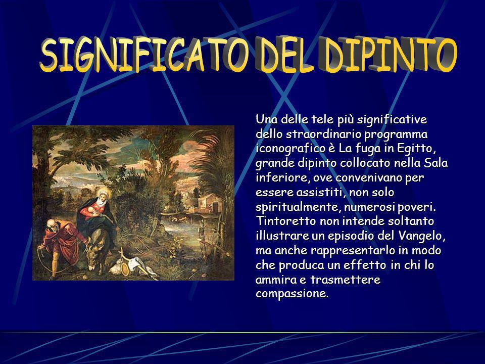 I suoi dipinti dovevano non soltanto esaltare le finalità caritative della Confraternita, ma anche evidenziare il concetto della salvezza divina dalle