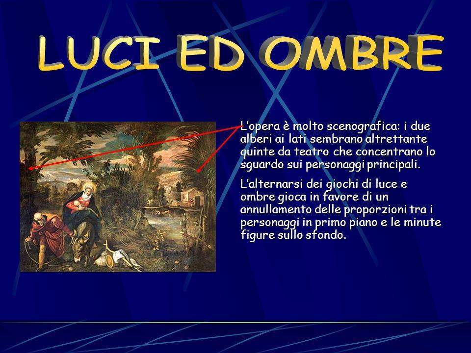 Una delle tele più significative dello straordinario programma iconografico è La fuga in Egitto, grande dipinto collocato nella Sala inferiore, ove co