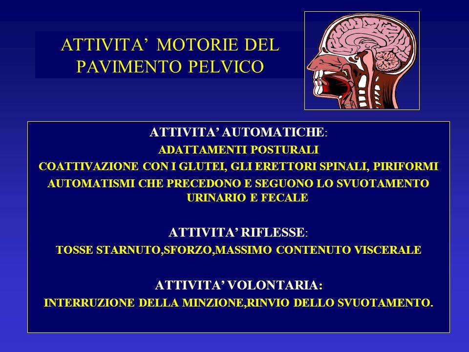VALUTAZIONE PRELIMINARE ANAMNESI VISITA PERINEOLOGICA VALUTAZIONE DEL DANNO VALUTAZIONE PSICOLOGICA