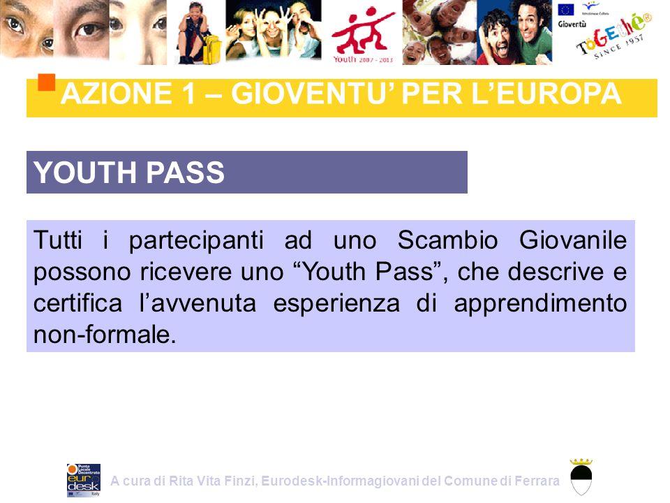 YOUTH PASS Tutti i partecipanti ad uno Scambio Giovanile possono ricevere uno Youth Pass, che descrive e certifica lavvenuta esperienza di apprendimento non-formale.