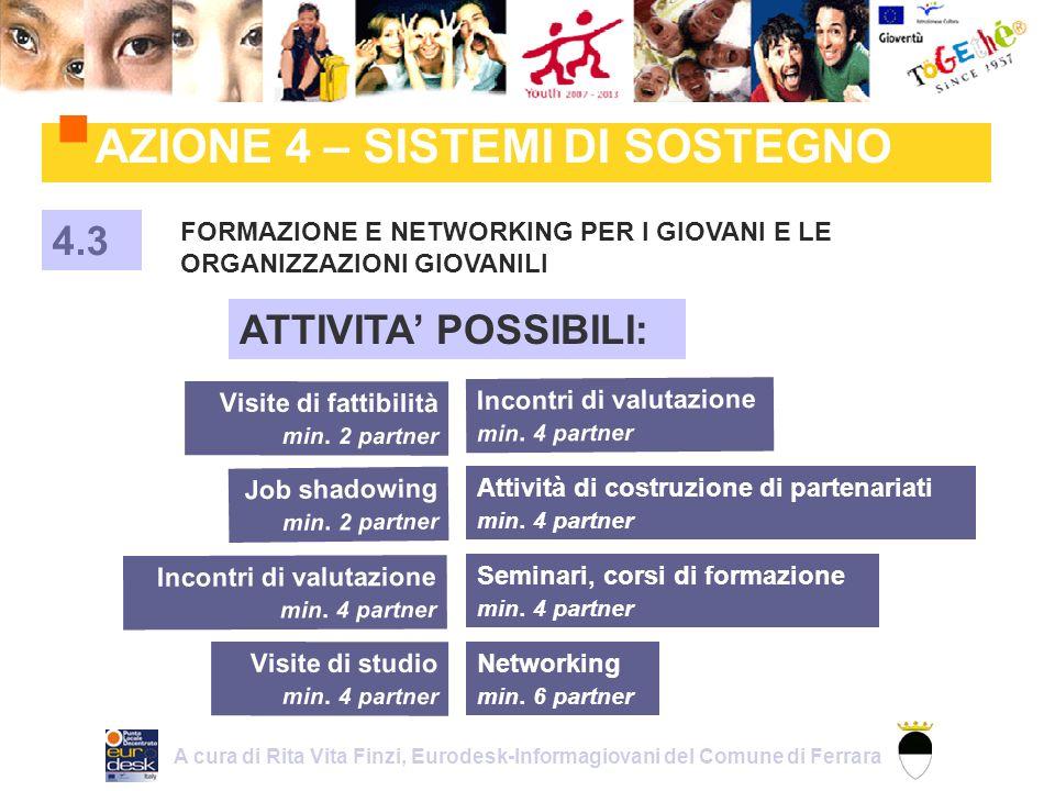 AZIONE 4 – SISTEMI DI SOSTEGNO FORMAZIONE E NETWORKING PER I GIOVANI E LE ORGANIZZAZIONI GIOVANILI 4.3 Job shadowing min.