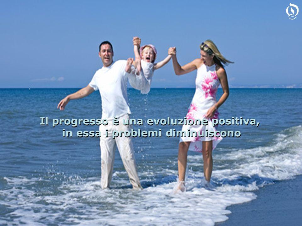 Il progresso è una evoluzione positiva, in essa i problemi diminuiscono Il progresso è una evoluzione positiva, in essa i problemi diminuiscono O