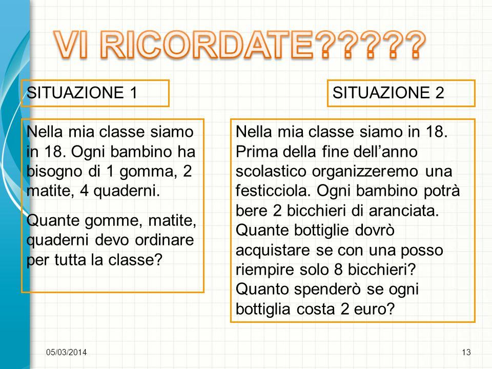 05/03/201414 SOLUZIONI DEGLI ALUNNI DI PRIMA