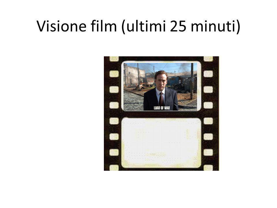 Visione film (ultimi 25 minuti)