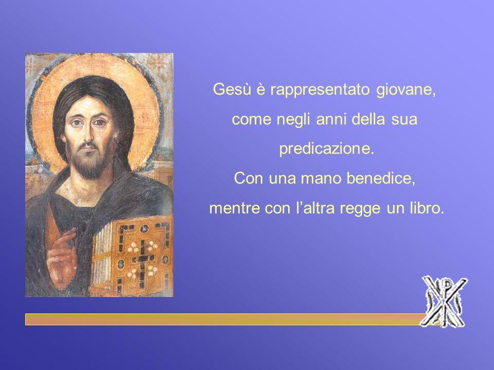 Gesù è rappresentato giovane, come negli anni della sua predicazione.