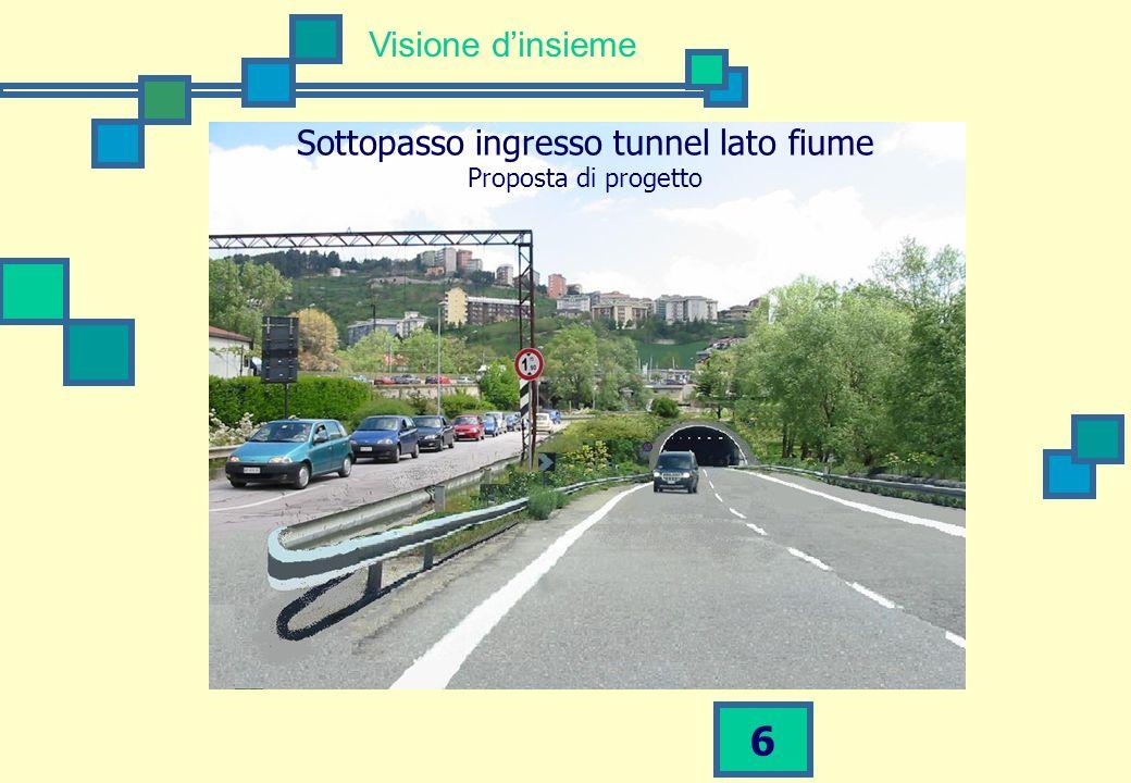 6 Visione dinsieme Sottopasso ingresso tunnel lato fiume Proposta di progetto
