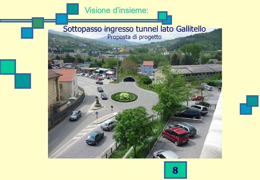 8 Visione dinsieme: Sottopasso ingresso tunnel lato Gallitello Proposta di progetto