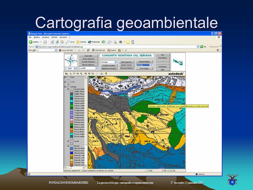 FONDAZIONE BOMBARDIERI La geomorfologia: cartografie e rappresentazione 2° incontro 13 gennaio 2005 Sistemi GIS