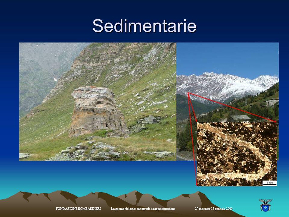 FONDAZIONE BOMBARDIERI La geomorfologia: cartografie e rappresentazione 2° incontro 13 gennaio 2005 Tipi di rocce: Magmatiche