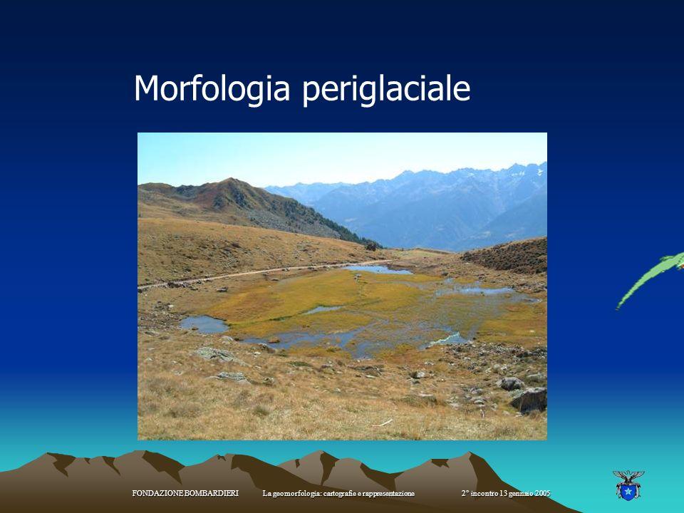 FONDAZIONE BOMBARDIERI La geomorfologia: cartografie e rappresentazione 2° incontro 13 gennaio 2005 Morena laterale