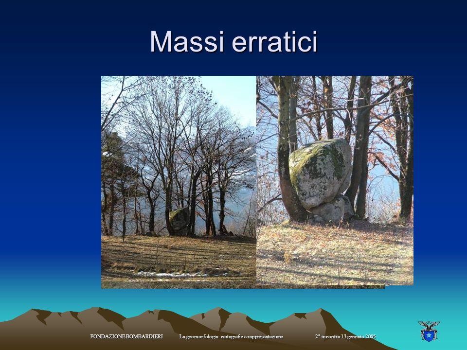 FONDAZIONE BOMBARDIERI La geomorfologia: cartografie e rappresentazione 2° incontro 13 gennaio 2005 Morfologia periglaciale