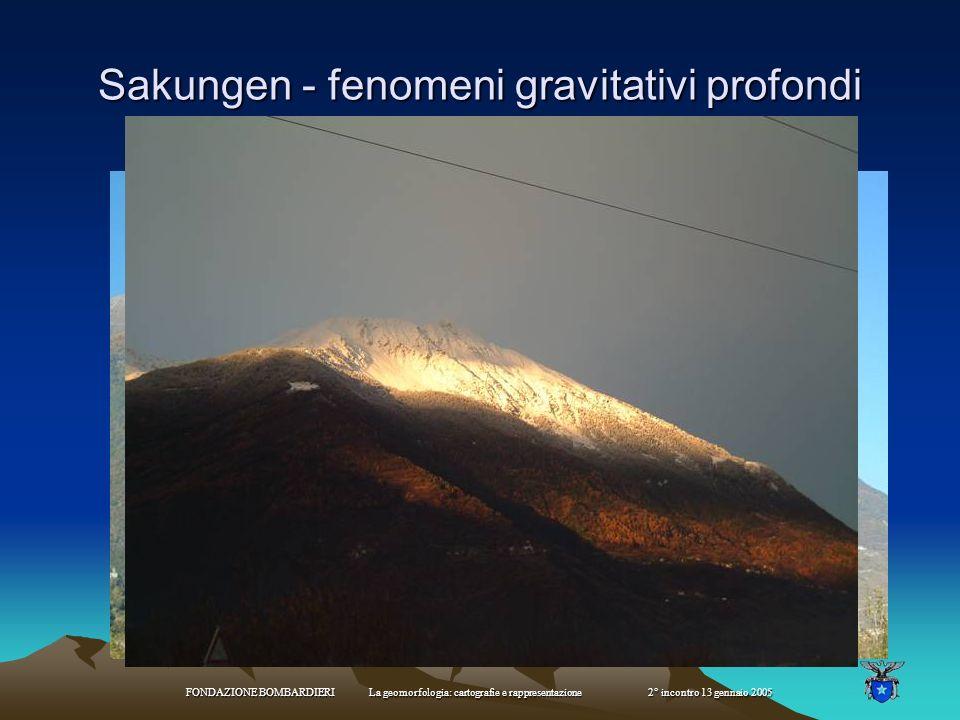 FONDAZIONE BOMBARDIERI La geomorfologia: cartografie e rappresentazione 2° incontro 13 gennaio 2005 Frane