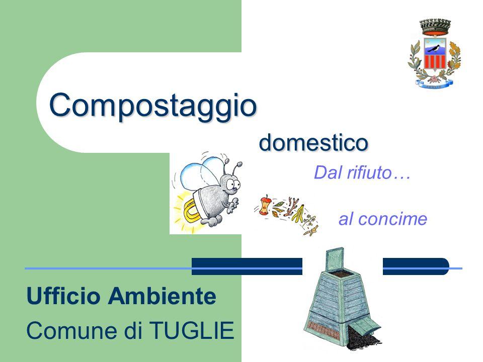 Compostaggio domestico Compostaggio domestico Dal rifiuto… al concime Ufficio Ambiente Comune di TUGLIE