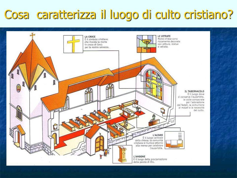 Cosa caratterizza il luogo di culto cristiano?