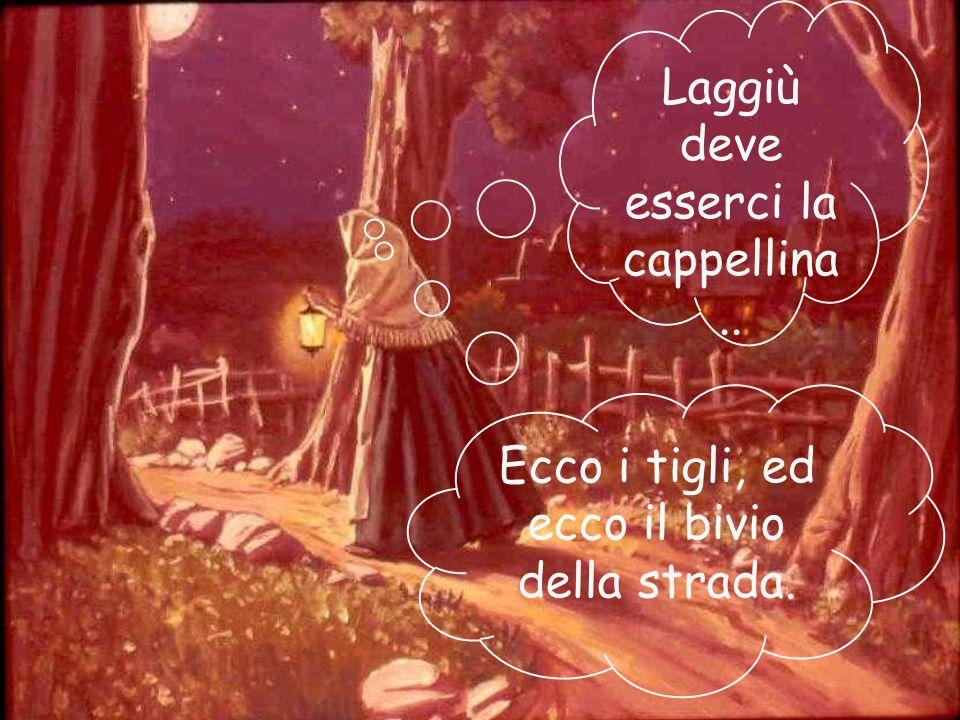 La luna è alta nel cielo ma per le strade non passa nessuno. Ma la mamma cammina svelta, quasi corre e, uscendo dal villaggio, si inoltra nel bosco. L