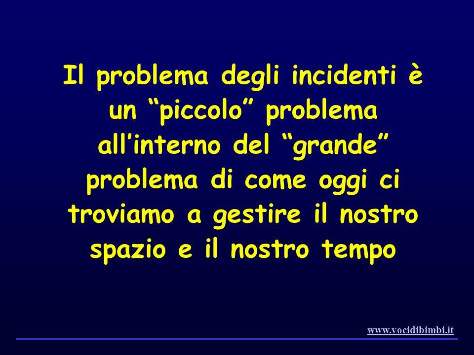 Il problema degli incidenti è un piccolo problema allinterno del grande problema di come oggi ci troviamo a gestire il nostro spazio e il nostro tempo