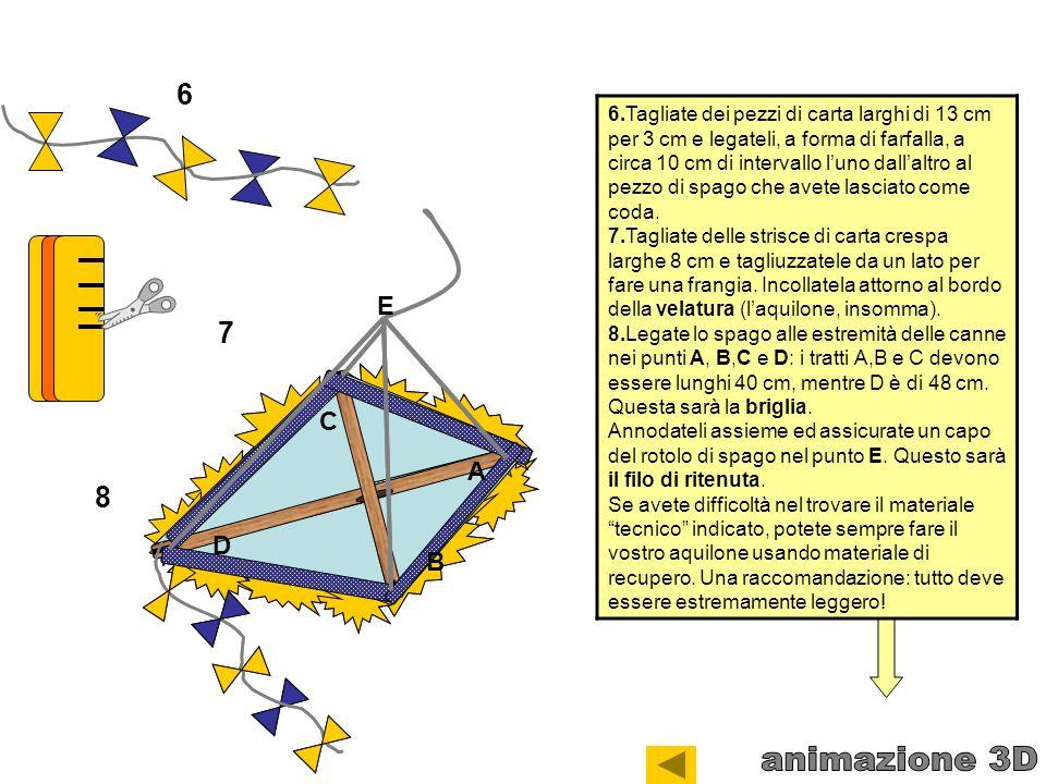 6.Tagliate dei pezzi di carta larghi di 13 cm per 3 cm e legateli, a forma di farfalla, a circa 10 cm di intervallo luno dallaltro al pezzo di spago c