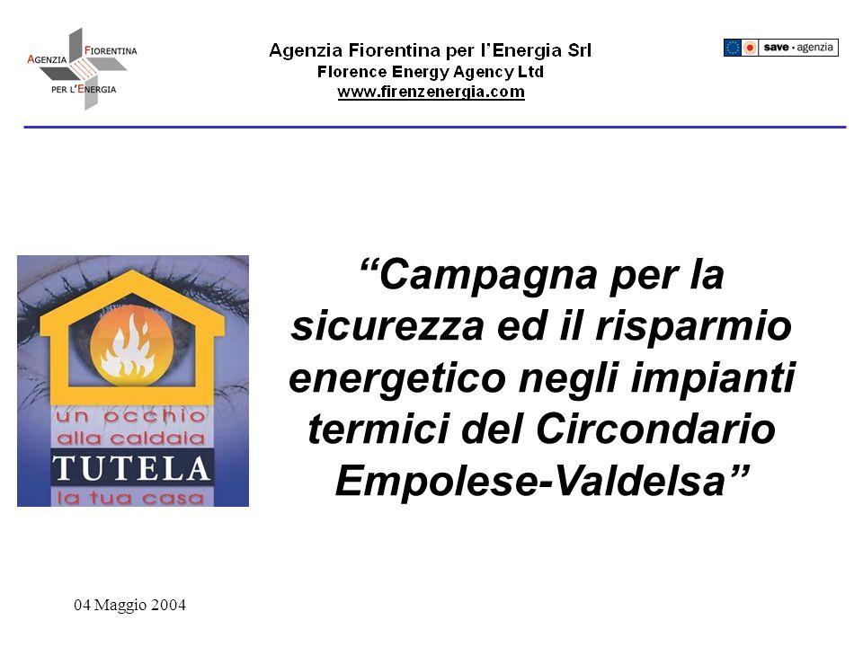 04 Maggio 2004 Campagna per la sicurezza ed il risparmio energetico negli impianti termici del Circondario Empolese-Valdelsa