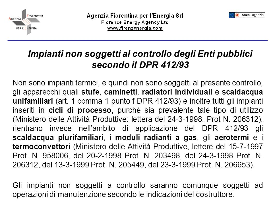 Prima accensione Il DPR412/93 (art.