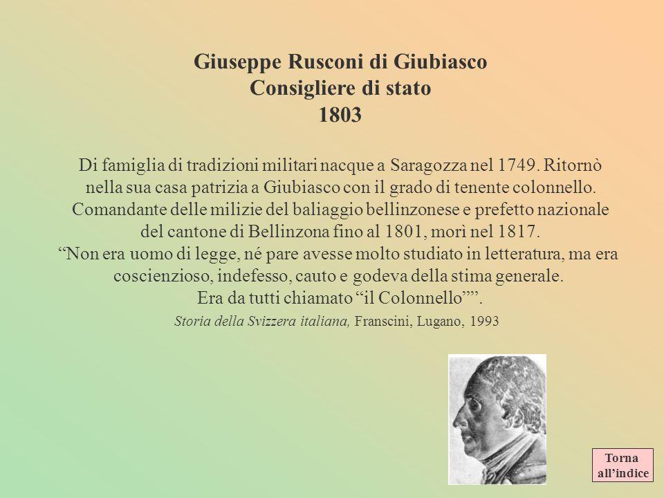 Alcuni personaggi del Piccolo Consiglio Vincenzo Dalberti primo presidente dellesecutivo 1803 Nato a Milano nel 1763, studioso, specialista di storia