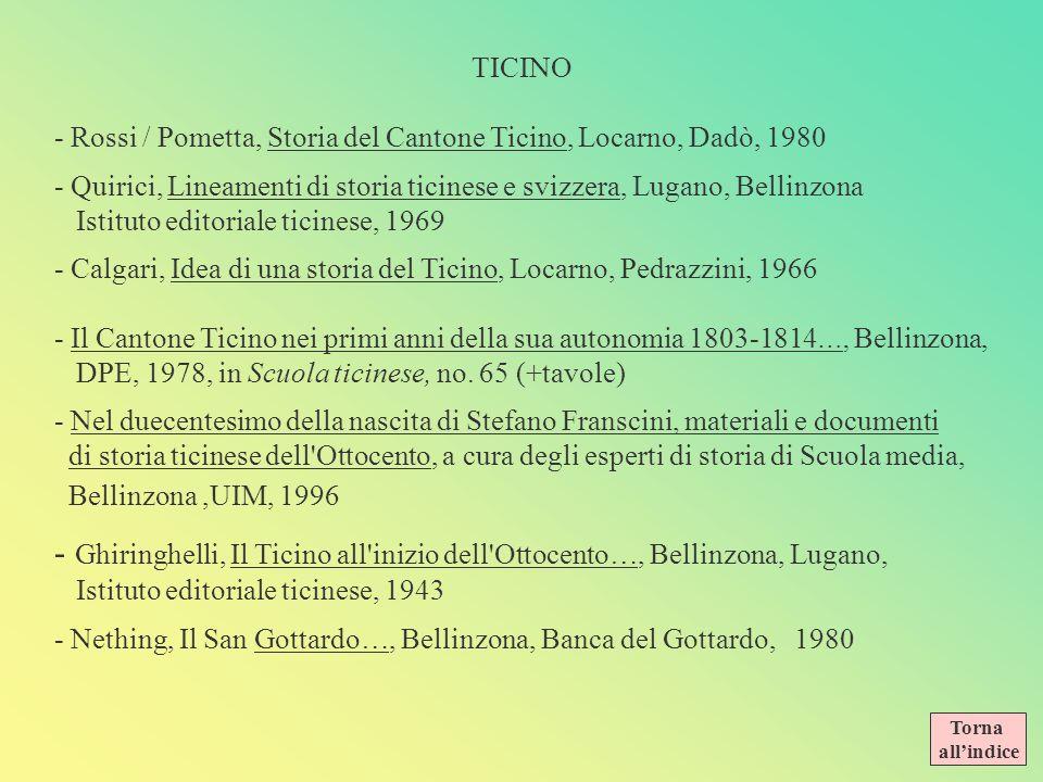 BIBLIOGRAFIA SVIZZERA - La Svizzera dal formarsi delle Alpi agli interrogativi riguardanti il futuro, Zurigo, Ex Libris, 1975 - Calgari / Agliati, Sto