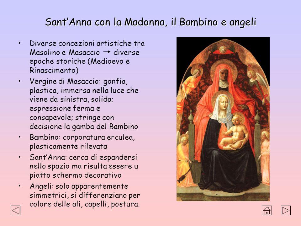 SantAnna con la Madonna, il Bambino e angeli Diverse concezioni artistiche tra Masolino e Masaccio diverse epoche storiche (Medioevo e Rinascimento) V
