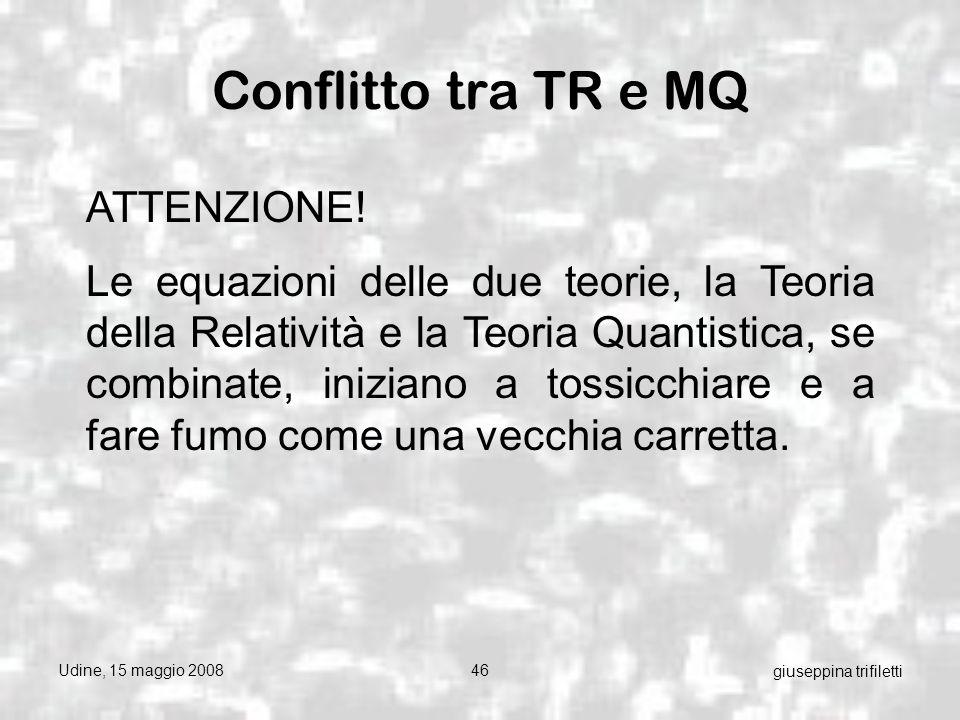 Udine, 15 maggio 200846 giuseppina trifiletti Conflitto tra TR e MQ ATTENZIONE.