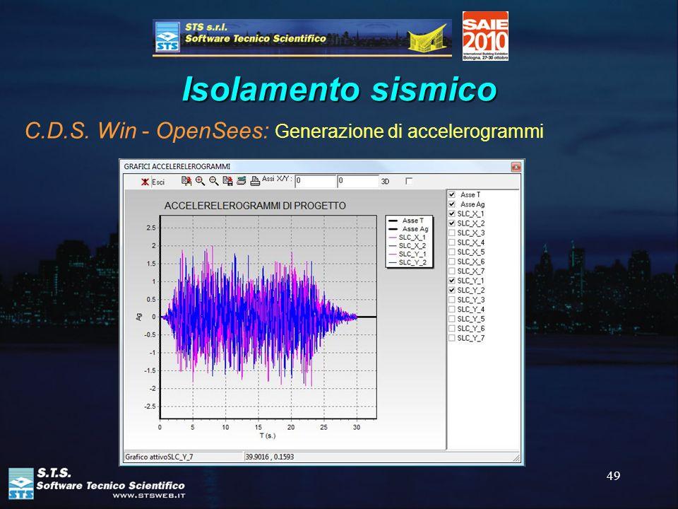 49 Isolamento sismico C.D.S. Win - OpenSees: Generazione di accelerogrammi
